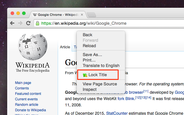 "choose ""Lock tab title"" on context menu"